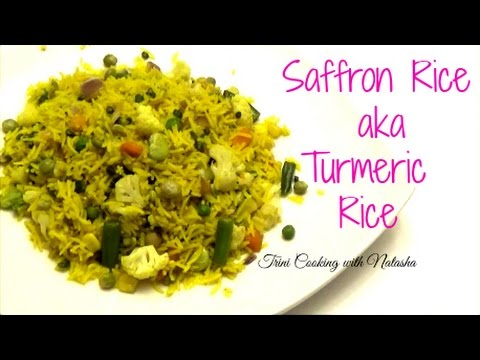 how to add saffron to rice