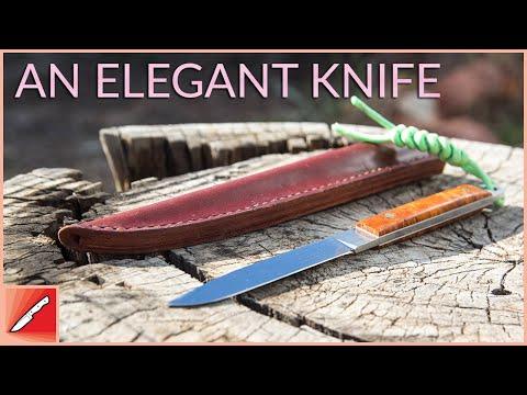 Knife Making - An Elegant Knife With Slim Leather Sheath