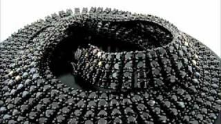 4 ROWS BLACK CZ PHARAOH CHAIN(CHCZ-0432B) Thumbnail