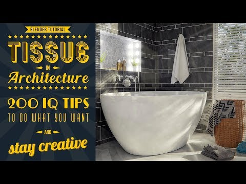 How to use Tissue addon in Architecture scene - Blender Tutorial