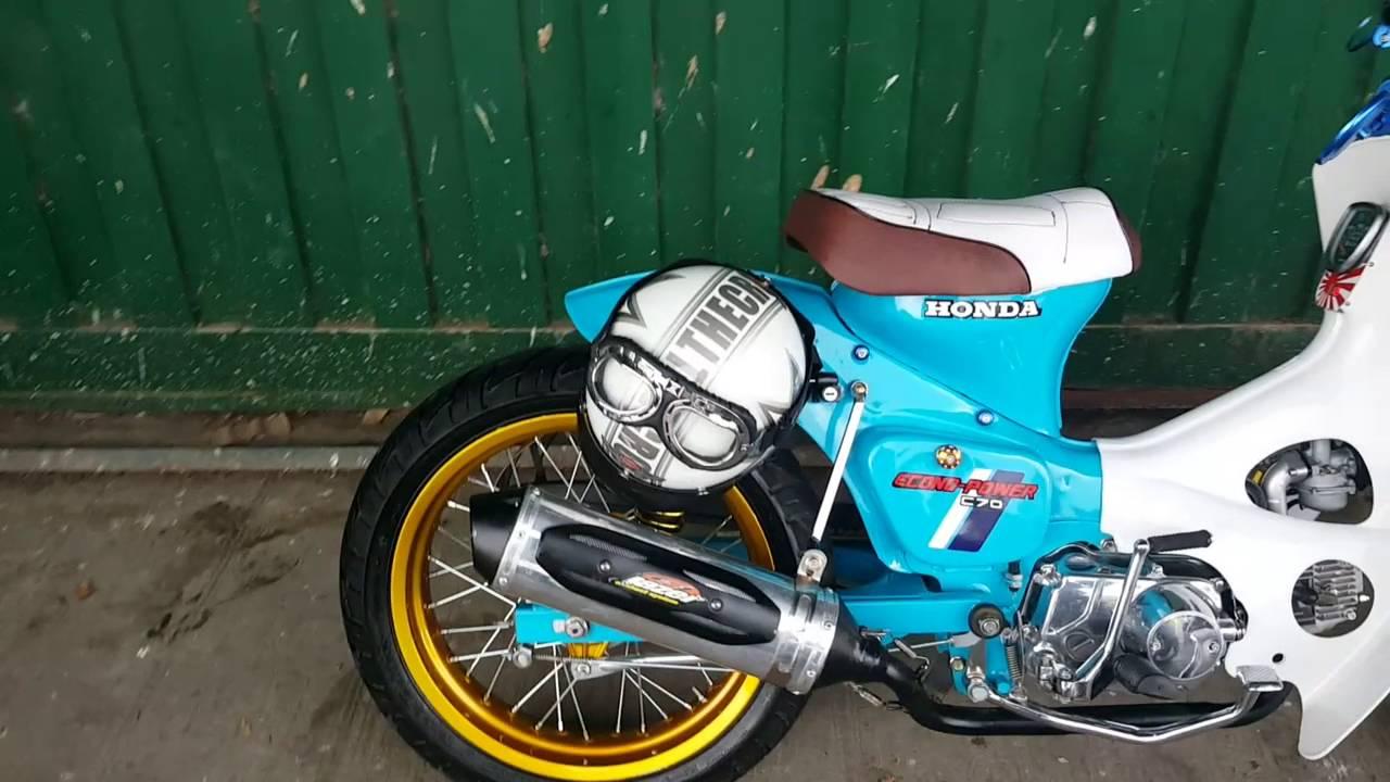 Honda 90 Atv >> HONDA C70 CAFE RACER COLOMBIA - YouTube