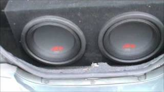-Bass I Love You-  2 Alpine Type R 12in Subs