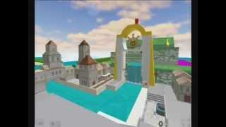 Delfino Plaza distrutta su Roblox