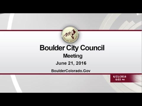 Boulder City Council Meeting - June 21, 2016