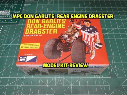 MPC DON GARLITS REAR ENGINE DRAGSTER 1:25 SCALE MODEL KIT REVIEW MPC868