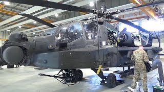 Helicopter Maintenance Ensures AH-64 Apaches Remain Battle Ready – 500 Hours Phase Maintenance