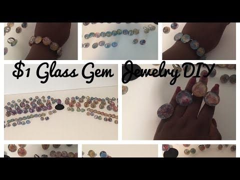 $1 Glass Gem Jewelry DIY