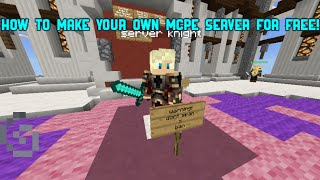 How to make your own mcpe server for free!(0.14.1)