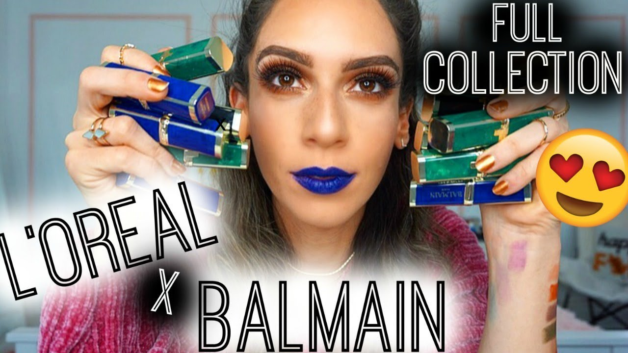 Loreal Paris X Balmain Paris Lipsticks Full Collection Lip