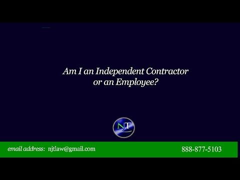 Am I an Employee or an Independent Contractor?