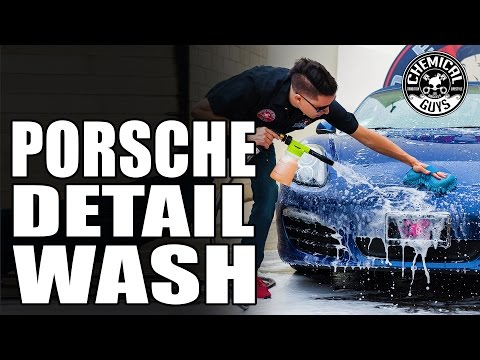 Basic Car Detailing Prep Wash Steps - Chemical Guys Detail Garage: Porsche Boxster Part 1