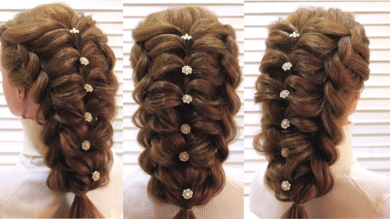 Прическа на выпускной. Воздушное плетение. Prom hairstyle ...