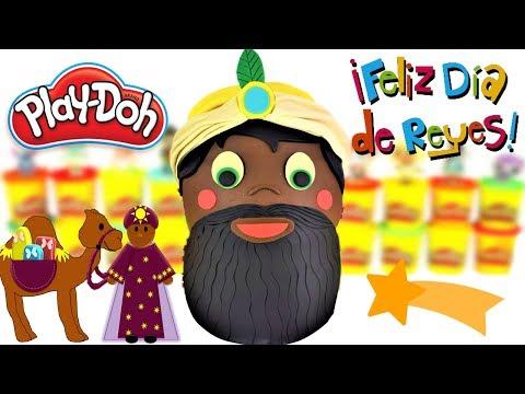 Huevo Gigante Sorpresa de Los Reyes Magos Del Rey Baltasar  de Plastilina Play Doh en Español