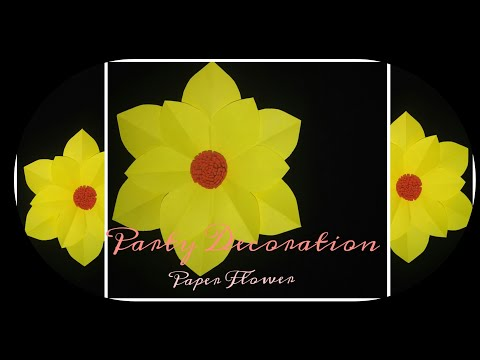 Party decoration paper flower| Easy Paper flower|Diy PaperFlower|