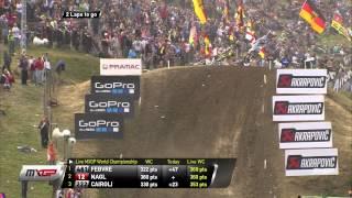 Dean Ferris vs Kevin Strijbos MXGP of Germany 2015 - motocross