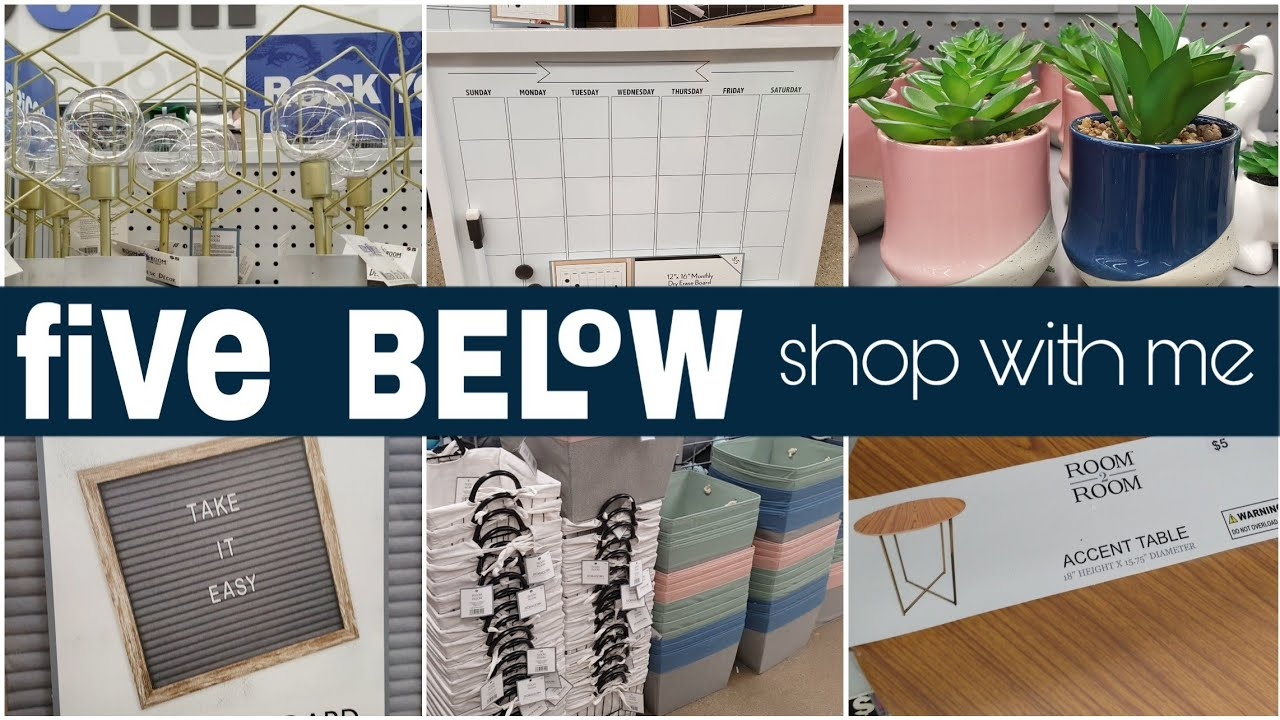 Five Below Shop With Me • school and home decor - YouTube