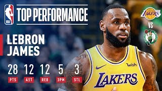 LeBron Puts On A Show In Boston! | February 7, 2019