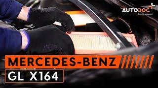 Hvordan bytte luftfilter / motorfiltre på MERCEDES-BENZ GL X164 BRUKSANVISNING   AUTODOC