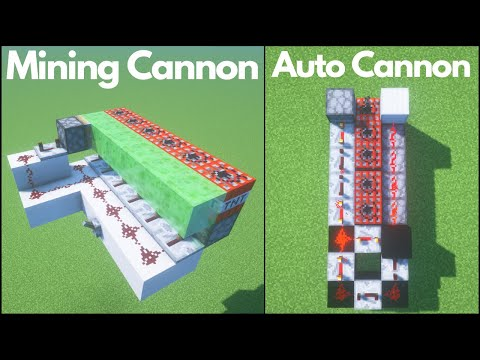 Minecraft: 5 Redstone TNT Cannon Designs (Tutorial)