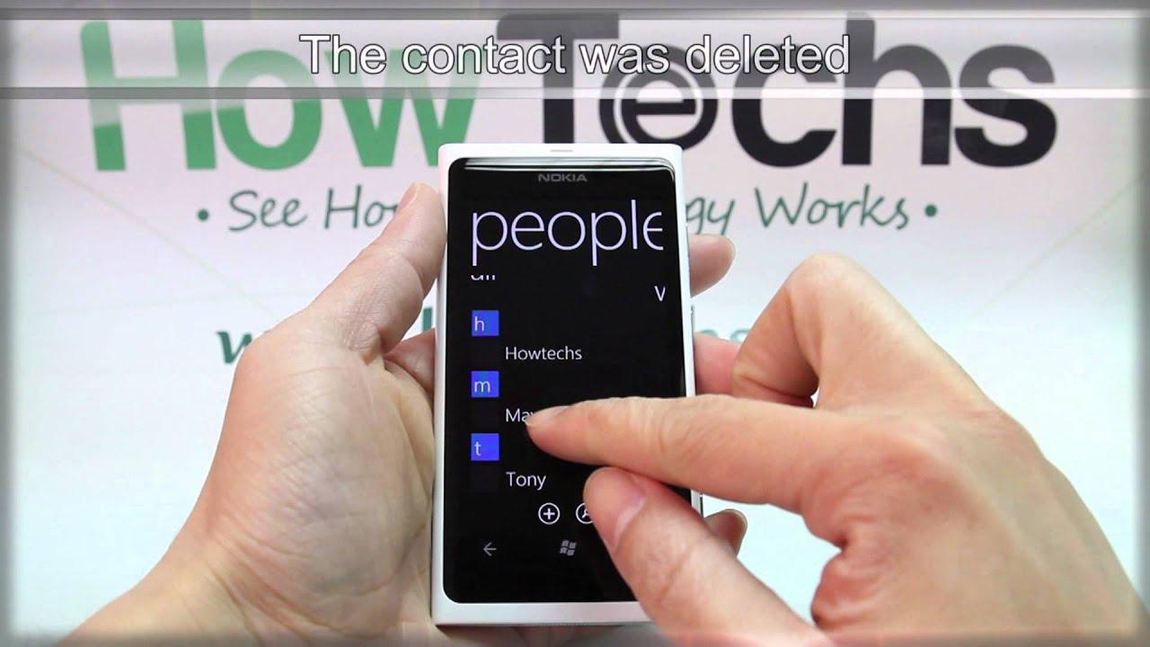 How To Delete A Contact On Nokia Lumia 800