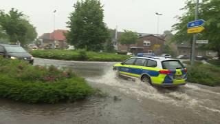 Unwetter in Wildeshausen - zahlreiche Feuerwehreinsätze durch Starkregen