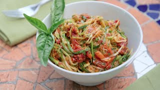 No Cook, Low Carb Zucchini Noodles Recipe