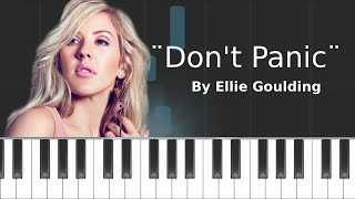 Ellie Goulding - ''Don't Panic'' Piano Tutorial - Chords - How To Play - Cover