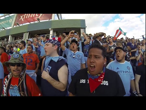 NYCFC SUPPORTERS AT PPL PARK FIRST ROAD WIN 6-6-2015