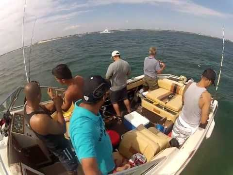 Fishing fire island inlet ny youtube for New york out of state fishing license