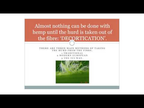 How to decorticate hemp without retting: the breakthrough technology of TCI - Charles B. Kovess