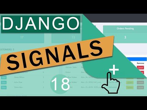 Introduction To Django Signals   Django (3.0) Crash Course Tutorials (pt 18)