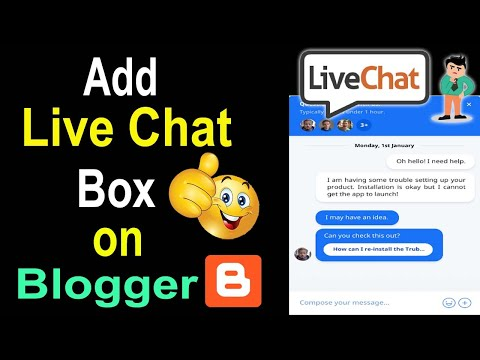 Create Live Chat Support System On Blogger | Make Live Chat Box For Blogs