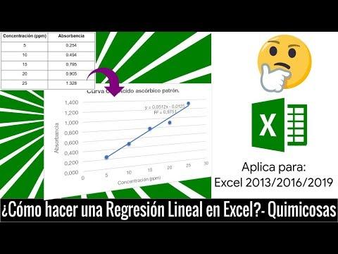 ¿Cómo realizar una regresión lineal en Excel?