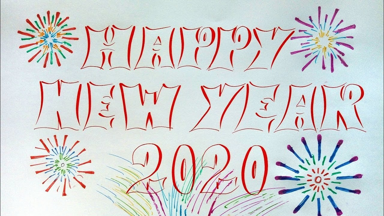 HAPPY NEW YEAR 2020 _ CHÚC MỪNG NĂM MỚI 2020 _ Luyện viết chữ đẹp _ Cẩm Nguyễn Bình Dương. Vlog 85