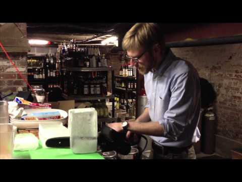 Columbia Room's Matt Ficke Carves Ice with a Chainsaw