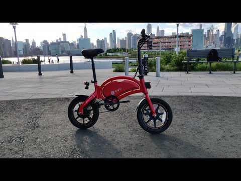 DYU D3+ Electric bike first impressions in NYC (Ferrari Red)