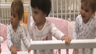 karan and gauri in twins nursery pictures