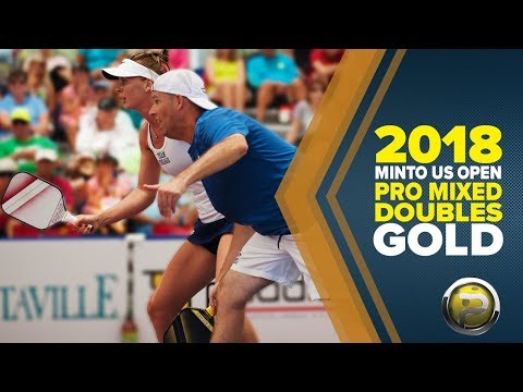 FULL VERSION! PRO Mixed Doubles GOLD - Minto US Open Pickleball Championships - CBS Sports 2018