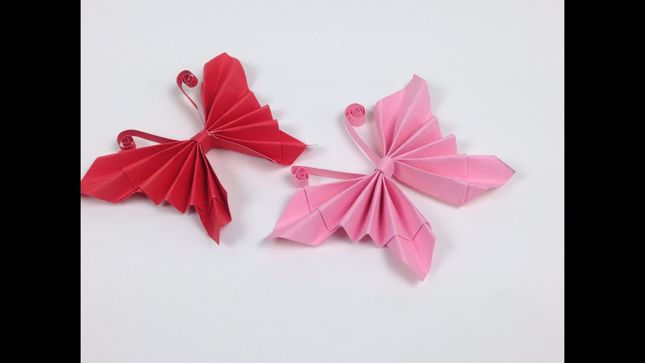 How to Make Easy Origami Paper Butterflies🦋 - DIY | A Very ...