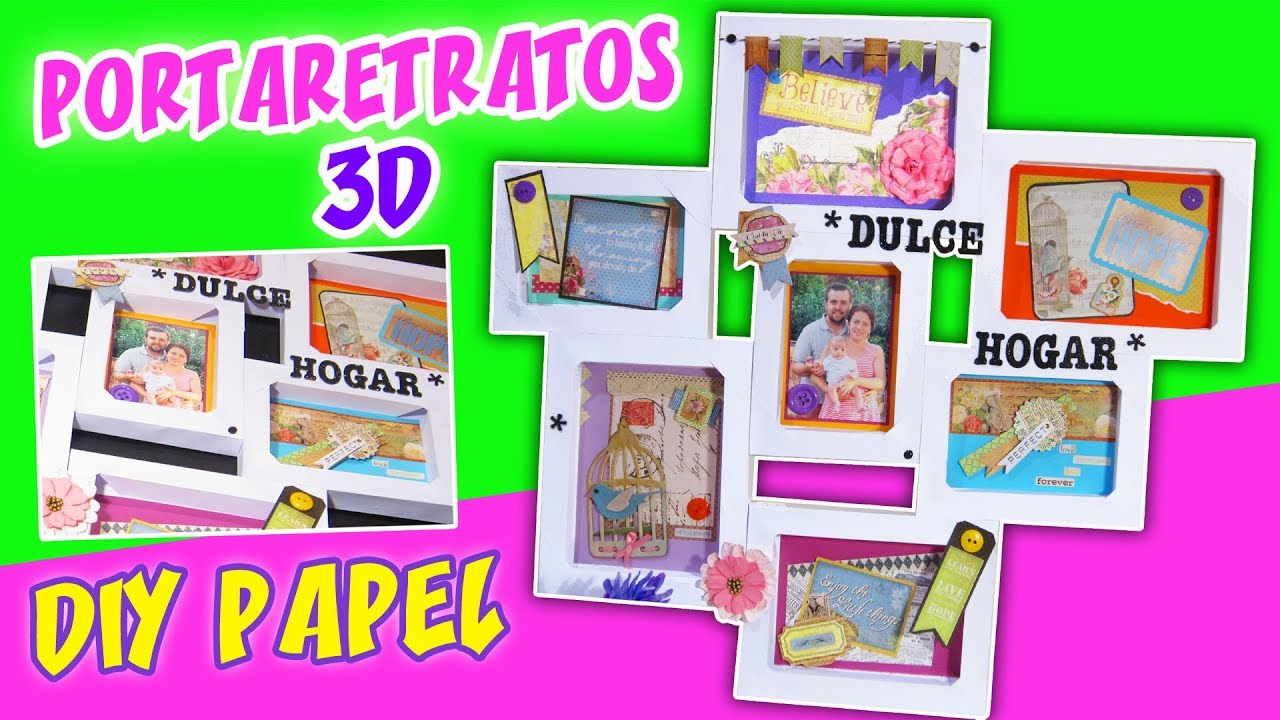 Diy portaretratos 3d de cartulina ideas para decorar - Decorar paredes facil ...