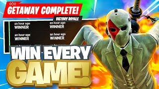 THE EASIEST WAY TO WIN ON FORTNITE *NEW GETAWAY MODE* - Fortnite Battle Royale