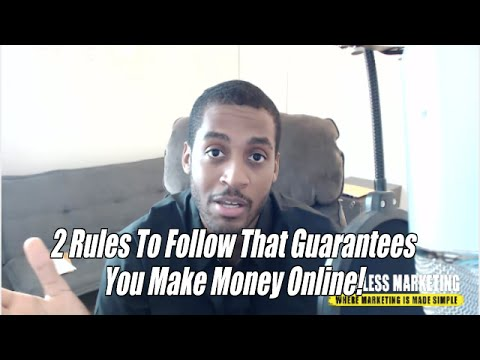 2 Rules For Success In Internet Marketing