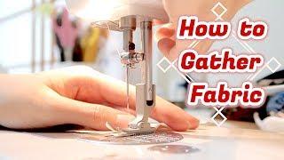 How to Gather Fabric // Sewing Tutorialㅣmadebyaya