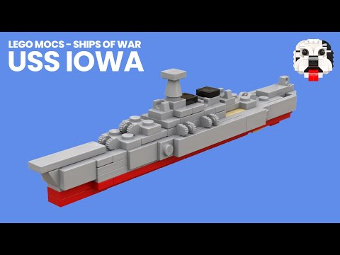 Lego Mocs Ships Of War Mini Lego Uss Iowa Battleship Video