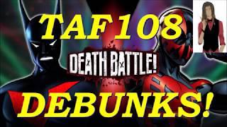 Debunk: Is Batman Really BEYOND Spider-Man 2099? (Screw Attack's Death Battle Debunked.)