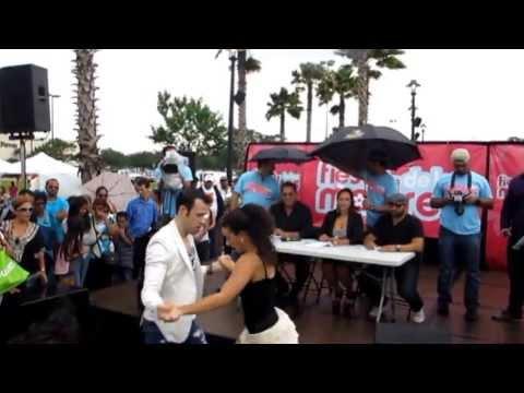 Telemundo (I Love Salsa) Dance Competition final round.  Ben (Iceman) and Michelle