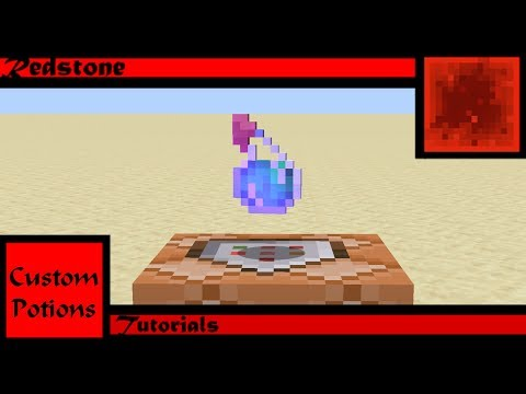 How To Create Custom Potions (Commands) (Minecraft 1.14.4)