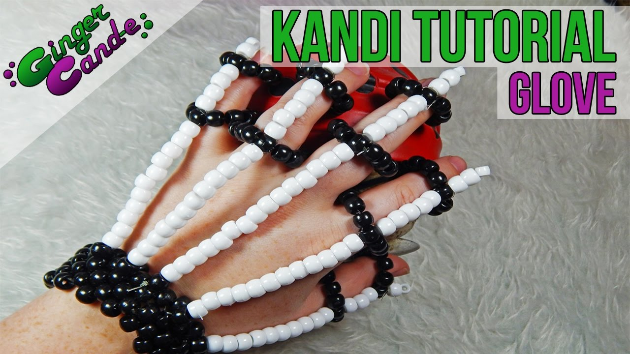 Skeleton Gloves Kandi Tutorial Gingercande Youtube