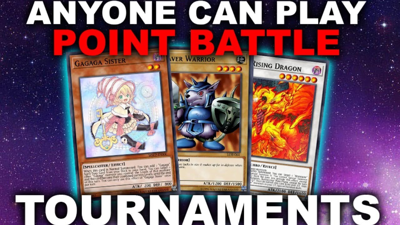POINT BATTLE TOURNAMENTS! ANYONE CAN PLAY! FREE + NO DECK CHECK (Yu-Gi-Oh! Duel Links)