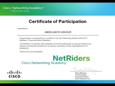 How To Download The Certificate Of Participation NetRiders2017
